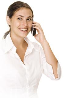 SPEXBOX Kontakt Frau die telefoniert