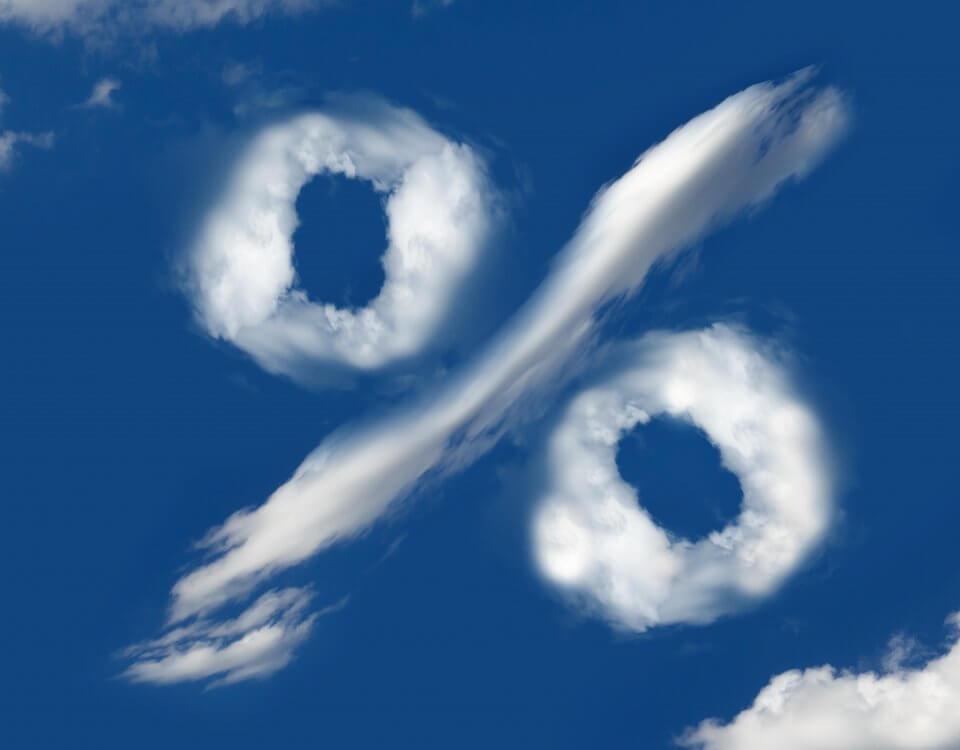 Prozentzeichen als Wolke